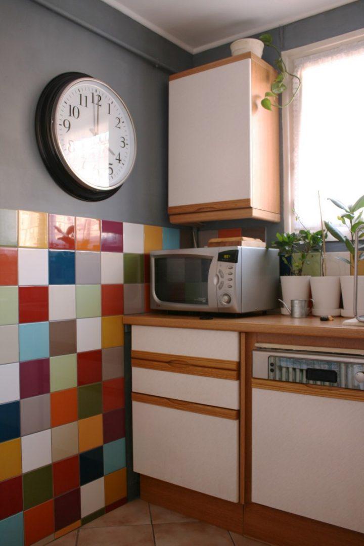 azulejos de cocina de colores