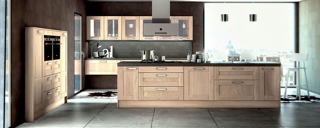 Galer a de im genes estilos de cocinas de madera for Cocina de estilo industrial