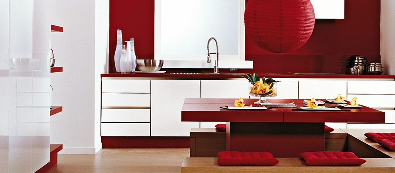 Cocina Moderna En Rojo Y Blanco Imagenes Y Fotos - Cocinas-en-rojo