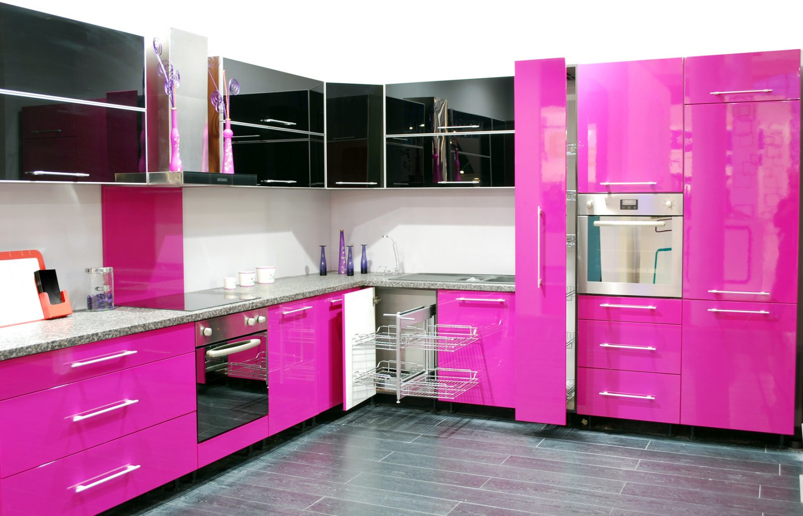 Cocina moderna en rosa im genes y fotos for Cocinas con colores vivos