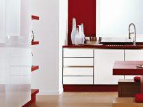 Colores para la cocina for Cocinas en rojo y blanco